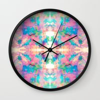 mirror Wall Clocks featuring Mirror by Amy Sia