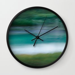 Sweeping Turquoise Lake Wall Clock