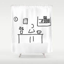 administration office Shower Curtain