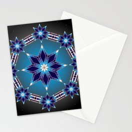 Morning Star Circle (Blue) Stationery Cards