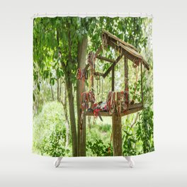 """In Memory"", Killing Fields, Cambodia Shower Curtain"