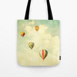 Drifting Balloons Tote Bag