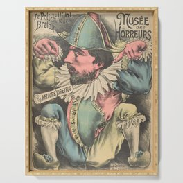 Old sign / Le Polichinelle Breton - Musée des Horreurs 51 Serving Tray