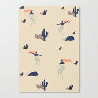 swim Canvas Prints featuring Dezert swim by .eg.