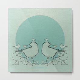 A Bird On The Head Metal Print