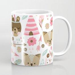 Pink Boho Animals Coffee Mug