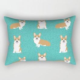 Corgis - Cute corgi, dog pet, corgi decor, corgi pillow, corgi bedding, corgi pattern, cute corgi Rectangular Pillow
