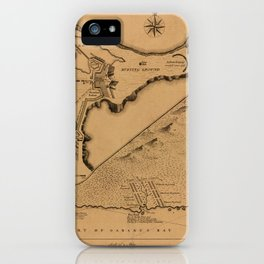 Map of Louisbourg 1757 iPhone Case