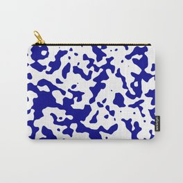 Spots - White and Dark Blue Carry-All Pouch