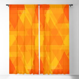 Bright orange and yellow triangles in the intersection and overlay. Blackout Curtain