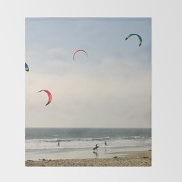Kite Surfing Throw Blanket