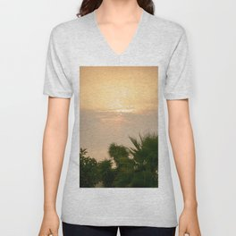 cloudy sky in the oasis Unisex V-Neck