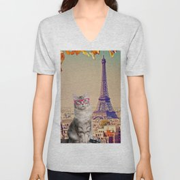 Louie in Paris Unisex V-Neck