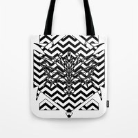 david lynch Tote Bags featuring Lynch by Gabriele Cuscino