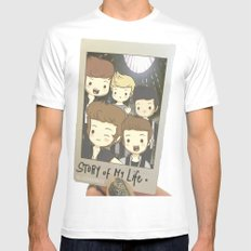 One Direction Story of My Life Cartoon MEDIUM White Mens Fitted Tee