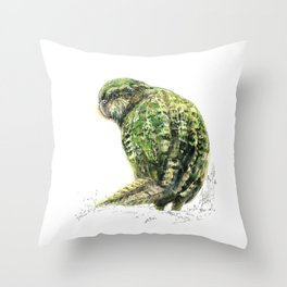 Mr Kākāpō Throw Pillow