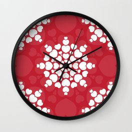 Valentine heart mandala, romantic and love Wall Clock