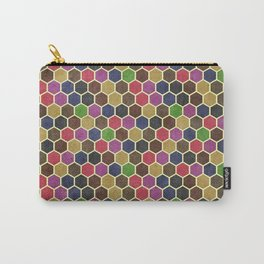 Colorful Seamless Hexagon Geometric Pattern Carry-All Pouch