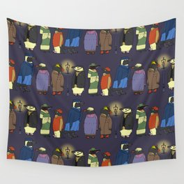 Victorian Penguins Wall Tapestry
