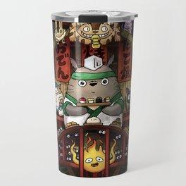 Ghibli Izakaya Print Coloured Travel Mug