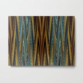 Herbstwald - Muster Metal Print