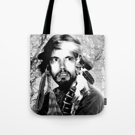 Jason Wing as Hania Spirit warrior B&W Tote Bag