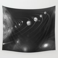 solar system Wall Tapestries featuring the solar system. by Galaxy Dreams