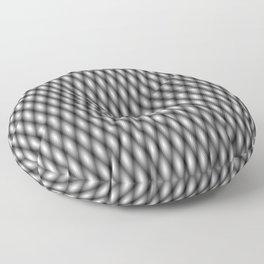 swirly black Floor Pillow