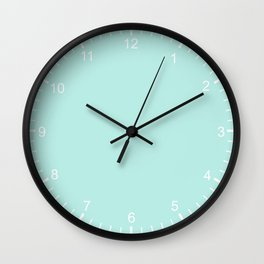 Simply aqua turquoise blue lightblue color - Mix and Match with Simplicity of Life Wall Clock