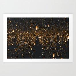 Lighted Lanterns Art Print