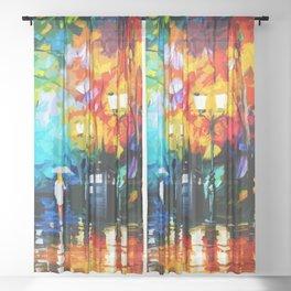 Tardis Starry Art Painting Night Sheer Curtain