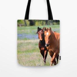 Horses & Bluebonnets II Tote Bag