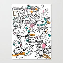 My Happy Doodle Canvas Print