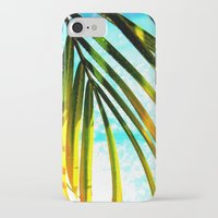 palm tree iPhone & iPod Cases featuring Palm by Stephanie Stonato