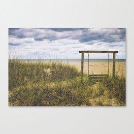 Tybee Island Bench Life Canvas Print