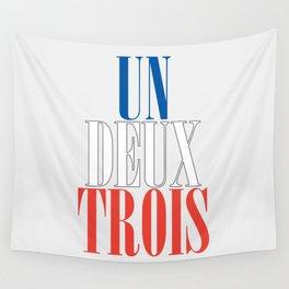 UN DEUX TROIS Wall Tapestry
