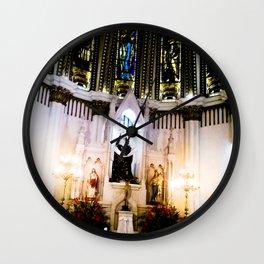 The shrine of the church. Wall Clock