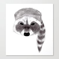 racoon Canvas Prints featuring Racoon by MichaelJenningsDoodleBoy