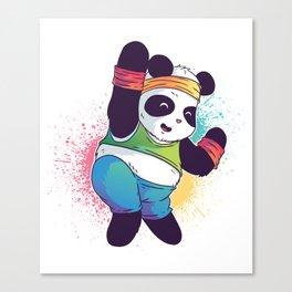 Fitness Panda Canvas Print