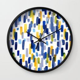 Blue Sky and Sunshine Abstract Watercolor Painting Wall Clock