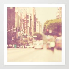a memory. downtown Los Angeles photograph Canvas Print