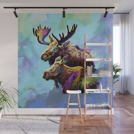 Colorful Moose Wall Mural