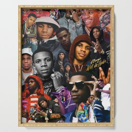 A Boogie Wit Da Hoodie Collage Serving Tray