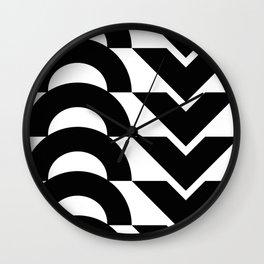 Black Arrows and Circles Graphic Art Wall Clock