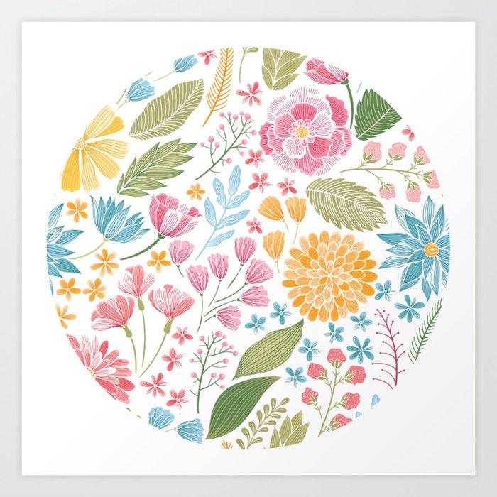 Such pretty summer flowers art print by sunnybunny society6 such pretty summer flowers art print mightylinksfo