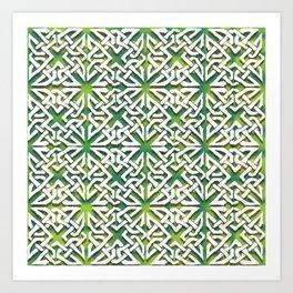 Tangled Geen Art Print