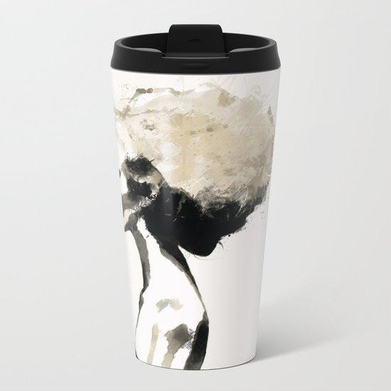 Serene - Digital fashion illustration / painting Metal Travel Mug