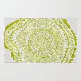 Lime Tree Rings Rug