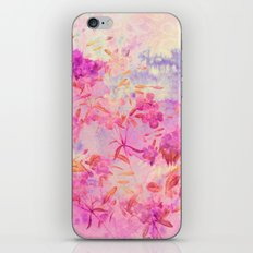 pink flowers and blue sky iPhone & iPod Skin
