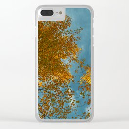 I miss you most of all, when autumn leaves start to fall Clear iPhone Case